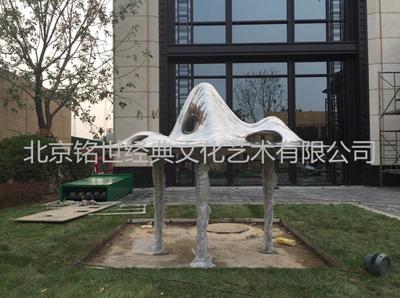 上海绿地集团不锈钢雕塑项目