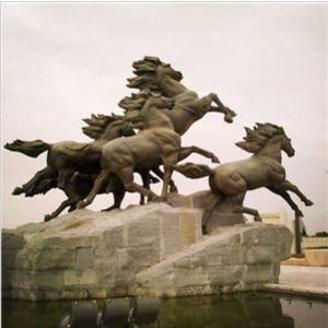 鄂尔多斯鄂托克前旗骏马广场雕塑